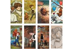 LOVE these Star Wars illustrations in the style of children's book illustrations by James Hance