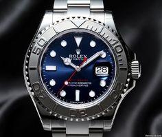 勞力士 (Rolex) NEW Yacht Master Steel & Platinum Blue Dial(Retail:HK$87500) ~ SPECIAL OFFER: HK$64,500.