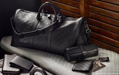 Louis Vuitton travel bag.. fuck gimme that black beauty.. <3  Crazy for Louis Vuitton.. LV all the way.. Anky <3