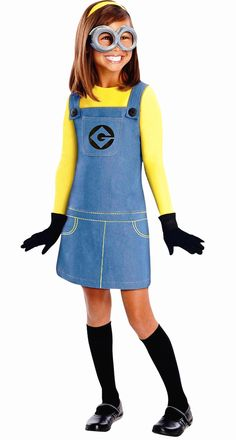 free shipping NEW Kids Despicable Me Minion Dress Costume with gloves not with glasses S M L XL #Affiliate