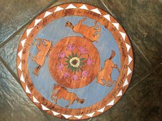 Beautiful art for your kitchen or dining room. Lazy Susan made to order with your theme. 18 inch diameter. Wonderful wedding gift