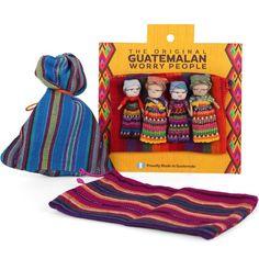 Worry Dolls Handmade Guatemalan Worry People Fabric Bag * For more information, visit image link. Guatemala, Worry Dolls, Buy Bags, Dolls For Sale, Bag Making, No Worries, Hand Weaving, Handmade, Ebay