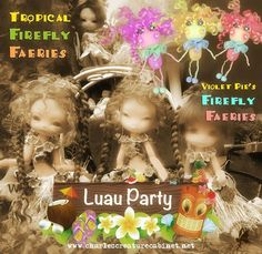 CCC's Tropical Summer Event Coming Soon!  Joint Project with Violet Pie  & With WeeDollyWears & Leopardess Moon  OOAK Violet Pie's Firefly Faeries limited numbers available  Limited Tropical Firefly Faeries 11cm in Tan, Choco-Tan and in Lemon&Lime **Fidelia, Fuuga & Isilmë  The Lemon&Lime 'LimonCello Fae' assembled, strung and faceups by Leopardess Moon (Fidelia, only 3 available)  Hawaiian Themed Outfits & Wigs by Marie Patterson WeeDollyWears  Please stay tuned…