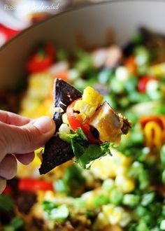 Loaded Blue Corn Nachos Mexican recipe  Easy, healthy, and delicious!