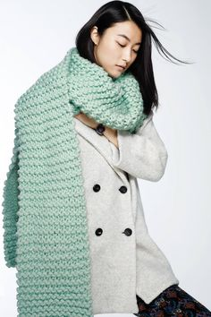 Ji Hye Park for Anthropologie November 2015 catalog - Snow day Scarf, MiH Larking Peacoat