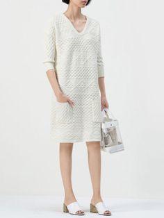 Knitting Wool Midi dress