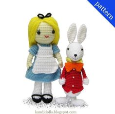 Alice in Wonderland and White Rabbit - 2PDF Amigurumi crochet patterns