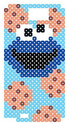 Cookie Monster - Sesame Street  phone case perler pattern (Samsung GALAXY Note 2)