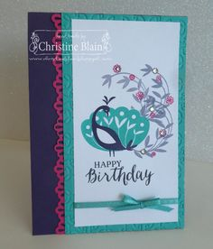 HAPPY HEART CARDS: STAMPIN' UP! BEAUTIFUL PEACOCK BIRTHDAY CARD