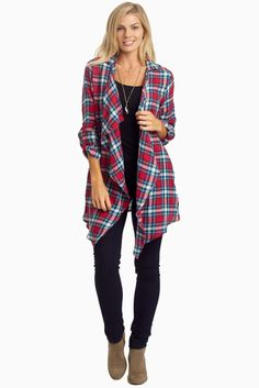 Red-Plaid-Lace-Back-Cardigan