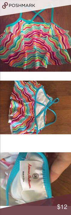 Hanna andersson bathing suit top! Sz 130 Adorable hanna andersson bathing suit top. is striped and ruffled! never been worn but my daughter took the tags off! Sz 130 Hanna Andersson Swim One Piece