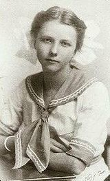 Ruth Becker, titanic survivor. Ruth was twelve when the ship sank, when she was unable to get into a lifeboat with her family she was left on board alone until a passing steward threw her to a lifeboat that was being lowered. She never spoke of the Titanic, her own children never knew she was on board, until she was elderly. Her ashes were scattered over the titanic site in the Atlantic ocean...