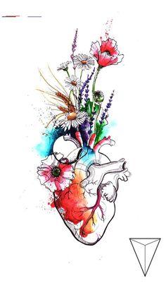 100 Painting, Art and Drawing Ideas - Malerei - Kunst Art Sketches, Art Drawings, Medical Wallpaper, Human Anatomy Art, Medical Art, Funny Medical, Heart Art, Watercolor Paintings, Illustration Art