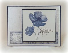 Stampin' With Inky Fingers: Sympathy in Navy #rubbernecker