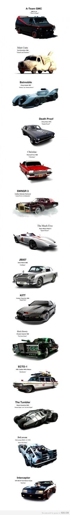Movie cars...cool
