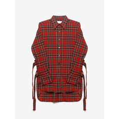 d-ring shirt (1.955 BRL) ❤ liked on Polyvore featuring tops, red top, red shirt and shirts & tops