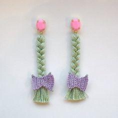 <3 <3 braid earrings