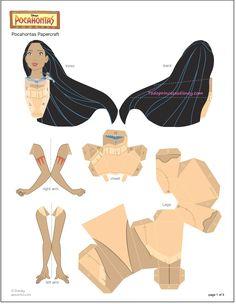 Completísima colección de figuras para imprimir y armar de Princesas Disney. Rapunzel, Aurora, Cinderella, Tiana, Blancanieves, Bella, Ariel, Mulan y Pocahontas, un post realmente para no desperdic…