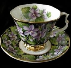 My Grandma F. had dishes with violets -- not like this but just as beautiful. . . .