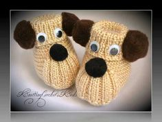 Hundefutter - Knitting patterns, knitting designs, knitting for beginners. Baby Booties Knitting Pattern, Knitted Booties, Baby Knitting Patterns, Baby Patterns, Crochet Patterns, Knit Baby Dress, Crochet Baby Booties, Baby Boy Booties, Cardigan Bebe