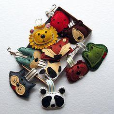 Fun handmade felt animal bag charms or Key ring by TheBigForest, £8.00