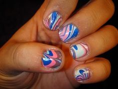how to: water marble paint your nails!!!! very cool