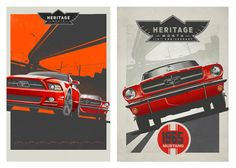 Ford Motor posters celebrating Ford Heritage Month. www.kfales.com