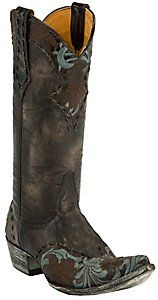 I'm in Love with these boots too...Old Gringo® Ladies Erin Distressed Brown Embroidered Snip Toe Western Boot