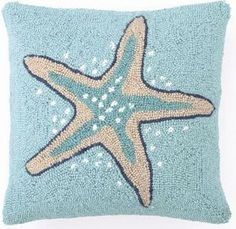 Starfish Pillow ⚓ Beach Cottage Life ⚓