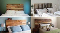 Testate del letto economiche in pallet di legno
