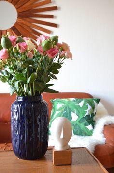 Change of Season urban living room | leather couch| scandinavian