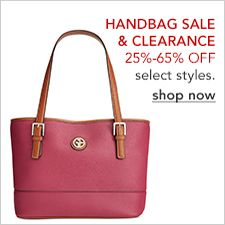Handbags Sale and Clearance 25 percent-65 percent off, select styles, shop now