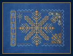 Winter Counted Cross Stitch Chart. Snowflake. by TurquoiseGraphics
