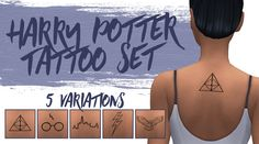lilsimsie faves — lilsimsie: Harry Potter Upper Back Tattoo Set by...