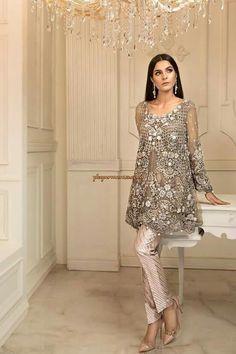 Latest pakistani pant frock dress