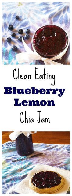 I must try this! Blueberry-Lemon Chia Seed Jam on just about anything without the sugar and calories! #healthy #paleo #vegan