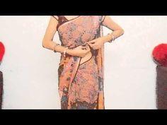 How To Drape Fish Cut Saree-How To Wear Saree For Curvies Look/Perfect Pleats Sari - YouTube