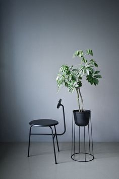 Japanese Garden-Inspired Furniture - The Wire Series by Norm Architects Features Planters and Lamps (GALLERY)