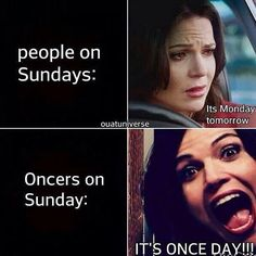 """I think they should remake this into """"Oncers on Sundays during the Winter hiatus: and Oncers' families and friends during the Winter hiatus:"""" lol."""