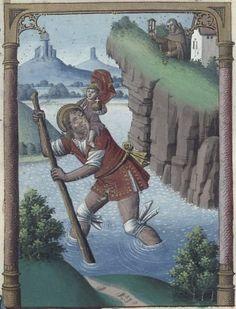 St. Christopher, The Golden Legend (BNF Fr 245, fol. 5v), c. 1480-1490 http://visualiseur.bnf.fr/ConsulterElementNum?O=IFN-8100141&E=JPEG&Deb=2&Fin=2&Param=C