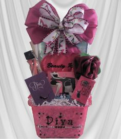 Personalized baby gift basket toronto homemade gifts diva gift basket great gift for that special diva mom it contains a gift negle Gallery