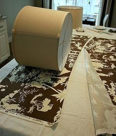 How to recover lampshades, using fabrics. This is one of the best tutorials on this Ive seen.