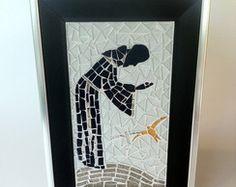 Quadro São Francisco de Assis em mosaico