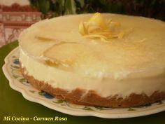 Tarta helada de yogur y limón
