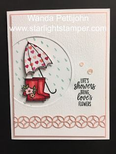 My Creative Corner!: Under My Umbrella, Flourish Thinlits, Bridal Shower Card, 2020 Stampin' Up! Spring Catalog Lifestyles, lifestyles and quality … Umbrella Cards, Masculine Birthday Cards, Masculine Cards, Bridal Shower Cards, Under My Umbrella, Fun Fold Cards, Stamping Up Cards, Paper Pumpkin, Homemade Cards