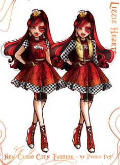 ever after high posts - the Art Of Prince Ivy Ever After High, Lizzie Hearts, Queen Of Hearts, Regal Academy, Monster High Art, Book Day Costumes, Fanart, Fashion Art, Fashion Design