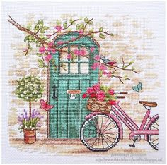 Романтическая история ♥ Afternoon in Provence, Dimensions Tiny Cross Stitch, Cross Stitch House, Cross Stitch Borders, Modern Cross Stitch Patterns, Cross Stitch Flowers, Cross Stitch Designs, Cross Stitching, Cross Stitch Embroidery, Embroidery Patterns