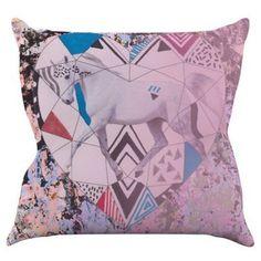 Kess InHouse Vasare Nar Unicorn Indoor / Outdoor Throw Pillow - VN1005AOP05