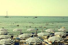 umbrellas and the sea