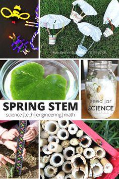 Spring STEM Science Math Engineering and Technology Activities Kindergarten Preschool